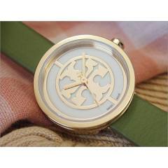 TORY BURCH Women's Watch LEATHER Green Band TRB4022