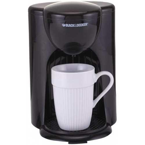 Black & Decker Coffee Maker One Cup Capacity Black DCM25
