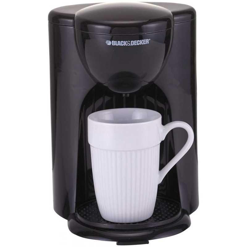 Black Decker American Coffee Maker One Cup Capacity Black Dcm25
