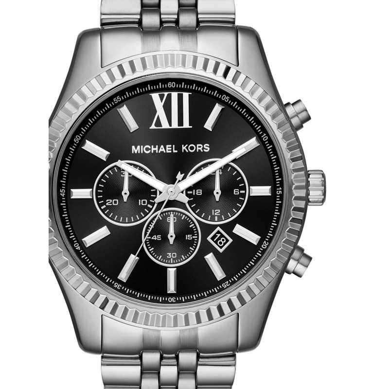 627c179b7 ... مايكل كورس ساعة رجالي كرونوجراف استانلس ستيل استوب ووتش MK8602 ...