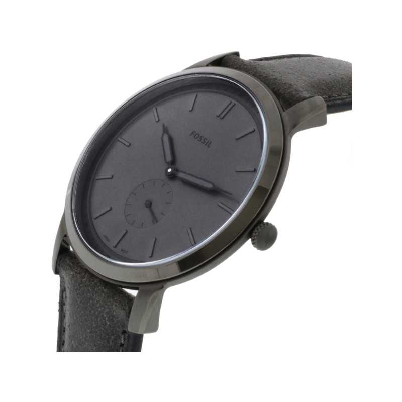 d2be6b2dd ... FOSSIL The Minimalist Two-Hand Men's Watch Gray Leather FS5445