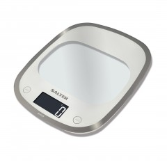 SALTER Scales 5KG Digital Screen Silver Color Made of glass S-1050 WHDR