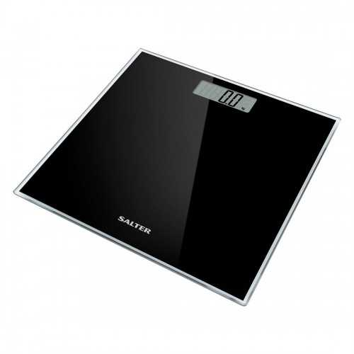 SALTER Body Scales Weighs up to 180 kg Made of liquid crystal Black Color S-9037 BK3R