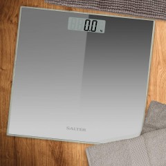 SALTER Body Scales Weighs up to 180 kg Made of liquid crystal Silver Color S-9037 SV3R