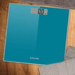 SALTER Body Scales Weighs up to 180 kg Made of liquid crystal Turquoise Color S-9037 TL3R