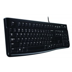 لوجيتيك لوحة مفاتيح مزودة بسلك لون أسود K120