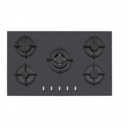Dominox Built-In Hob 90 cm 5 Gas Burners Black Glass DHG 905 4G TC BK F C FEN