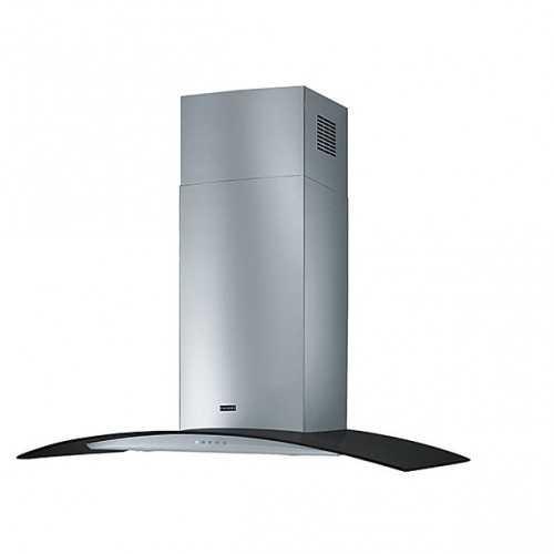 Franke Kitchen Chimney Hood Glass Curved 90 cm 650 m3/h Stainless FGC 925 BK/XS LED