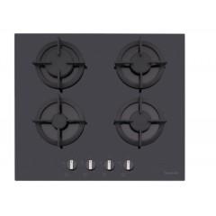 Dominox Built-In Hob 60 cm 4 Gas Burners Black Glass DHG 604 4G BK F C FEN