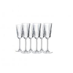 CRISTAL D'arques A set of cups 6 Pieces Crystal 17 cl L8234