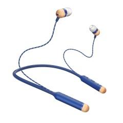 House of Marley Wireless Earphones with Mic Blue EM-JE083-DN