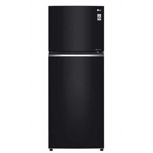 LG Refrigerator 437 Liter Hygeine Fresh No Frost Glass Black GN-C562SGCU
