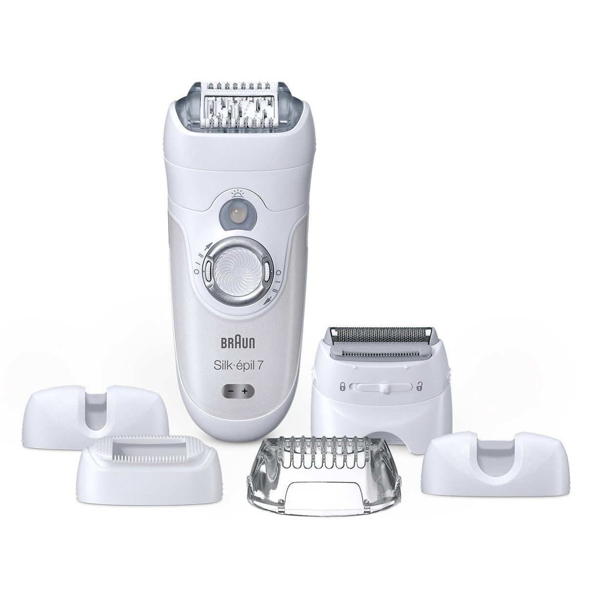 براون سيلك ابيل 7 آلة إزالة الشعر للاستخدام الجاف أو مع الماء مع 6 ملحقات Se7 561