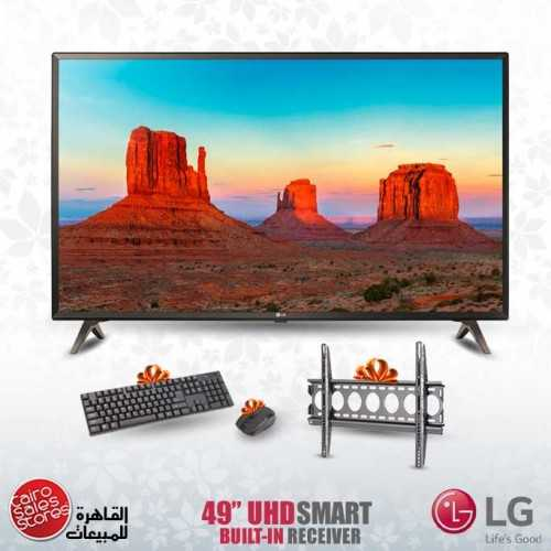 "LG 49"" LED TV Ultra HD 4K Smart WebOS With Built-In 4K Receiver 49UK6400PVC"