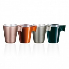 Luminarc Flashy Expresso Flavor Set of Coffee Cups 4 Pieces J7286