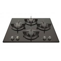 Ariston Built-In Gas Hob 60 cm Saftey Cast Iron Crystal Black: DD 641 /A(BK)