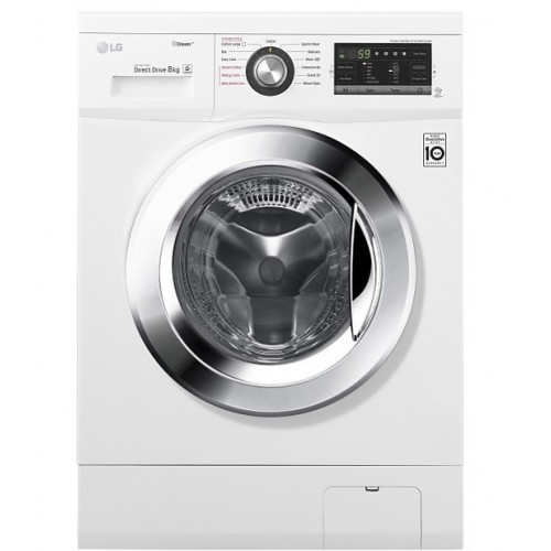 LG Washing Machine 8 Kg Direct Drive 6 Motions White FH4G6TDY2