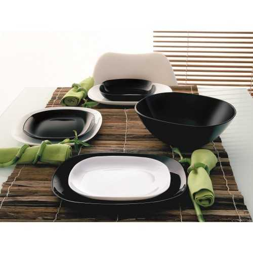 Luminarc Sweet Line Black & White 76 Pieces Dinner Set P2372