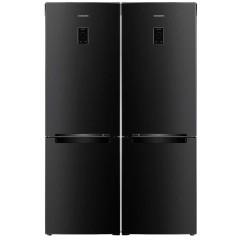 SAMSUNG Twins Refrigerator with Bottom Freezer 6 drawers Inverter Digital Black RB33J3230BC