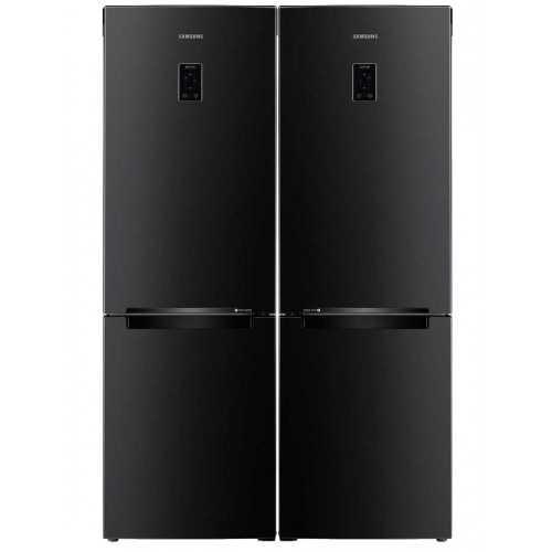 SAMSUNG Twins Refrigerator 350 Liter and Freezer 7 drawers Inverter Bottom Freezer Digital Black RB33J3230BC