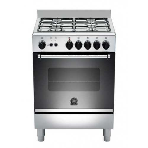 La Germania Freestanding Cooker 60 x 60 cm 4 Gas Burners With Fan Stainless AM64081DX