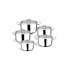 Oxford Kitchen Pot 10 Pieces Stainless Steel LUX LINE
