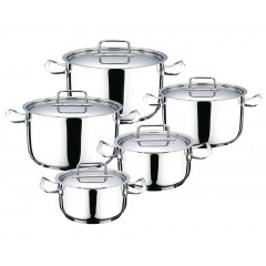 Oxford Kitchen Pot 10 Pieces Stainless Steel FLAT LID