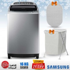 Samsung Washing Machine 16KG Toploading Wobble Technology Silver With Gifts WA16J6730SS