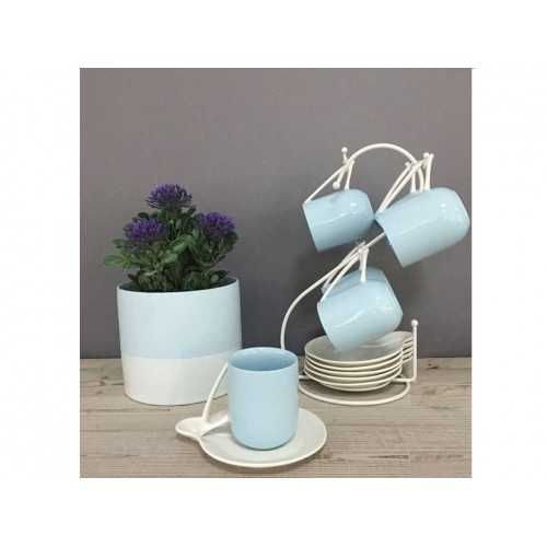 Oxford Tea cups and Pot Collection Set 12 pieces With Stand O1-12
