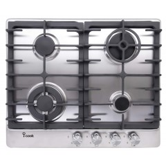 UNIONAIRE iCook Built In Hob 4 Burners Gas Stainless BH5060S-8-IS
