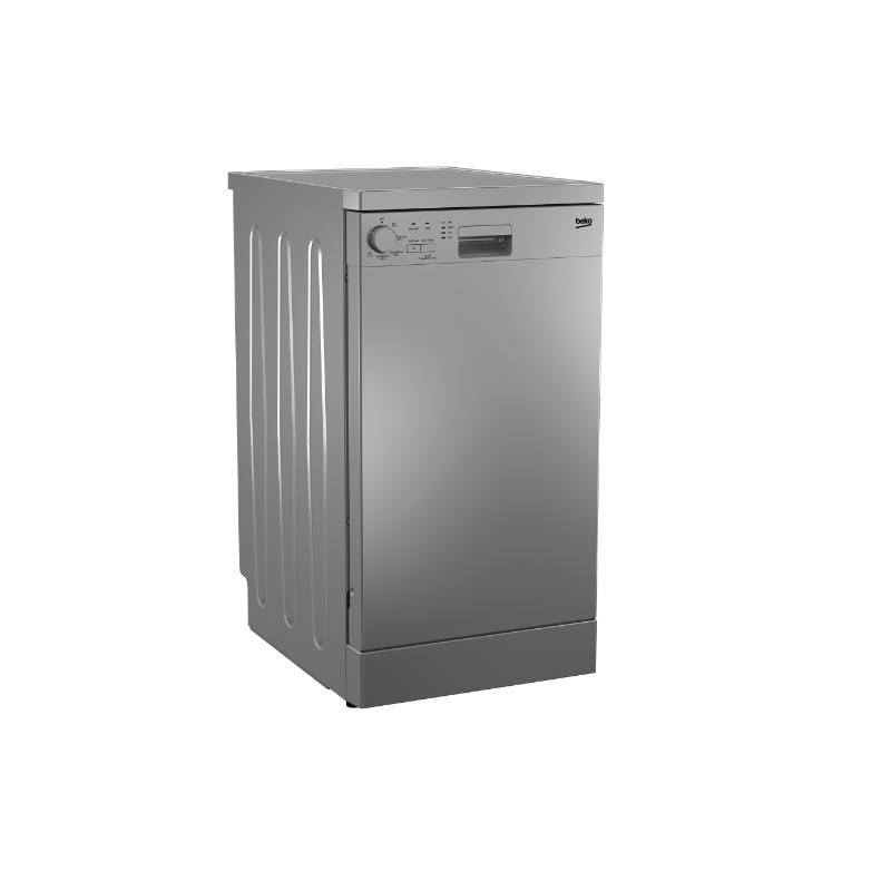 3239bb57398 BEKO Dishwasher 45 cm 5 program 10 Person Half load Silver DFS05012S