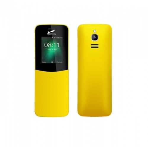 Smtel Dual Sim Mobile Phone 1.8 Inch Front and Back Camera Yellow KR18-Y