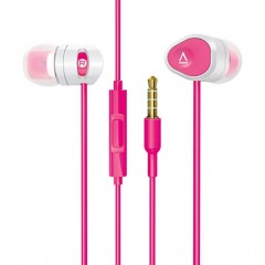 Creative In-Ear Headphones with 8mm Driver and Universal Mic Pink MA-200