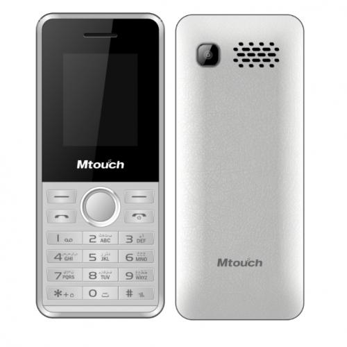Mtouch Mobile Dual Sim memory up to 16GB Battery 1200mah,Camera0.08 MP White E20-W