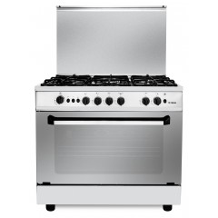 Fresh Gas cooker 5 Gas Burners 90x60 cm With Fan Stainless Punto 90*60