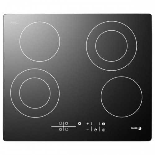 Fagor Electric Built-In Hob 4 Burner 60 cm Vitro Ceramic 2VFT-60SS