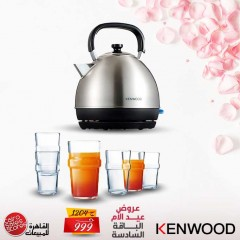 Kenwood Traditional Kettle and Luminarc A Set of Cups 6 Pieces MD Bundle6