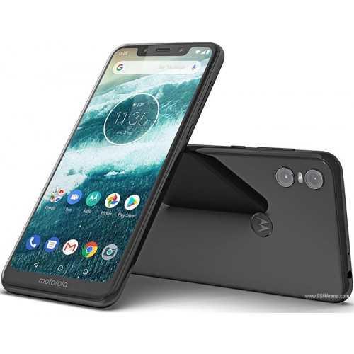 "Motorola Smartphone Moto One 6"" RAM 4GB Internal Storage 64 GB Black Moto One XT1941-4"