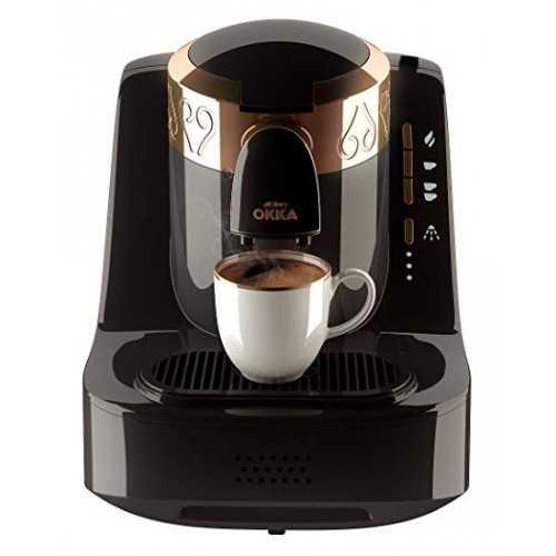 Okka Automatic Turkish Coffee Machine Dual Cup Gold x Black OK-2G