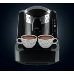 Okka Automatic Turkish Coffee Machine Dual Cup Silver x Black OK-2S