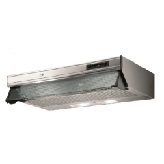 Turbo Air Hood 90cm Stainless 450 m3/h With Glass Canopy: K802-90