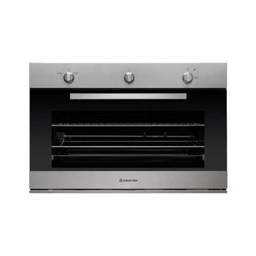 Ariston Gas Built-In Oven 90 cm 105 Liter with Electric Grill Stainless GM5 43 IX A