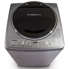 Toshiba Washing Machine 13 KG Top automatic Inverter Silver Color: AEW-DC1300SUP(SS)