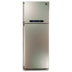 Sharp Refrigerator 384 Litre 2 door Digital With Plasma Cluster Champaign Color: SJ-PC48A(CH)
