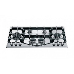 Ariston Built-In Gas Hob 90cm 6 Burners and Gas Oven 60 cm Electric Grill and Hood Classic 90 cm 420m³/h GA3 124 IX A1 Bundle