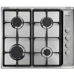 Elba Built-In Hob 60 cm 4 Gas Burners Safety Stainless ES65-450X