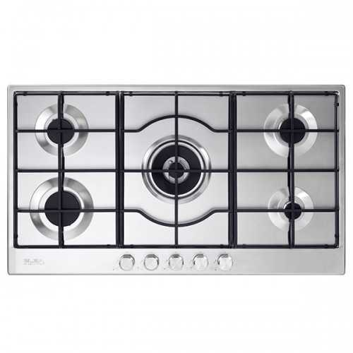 Elba Gas Hob 90 cm 5 Burners Safety Front Controls Stainless ELIO 95-545 L