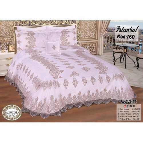 ALFATTAL Bedspread Jacquard Size 240cm*250 Set 7 Pieces ISTANBUL760