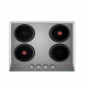 Ecomatic Built-In Hob 60 cm 4 Electric Hotplates Lateral Control ES603O