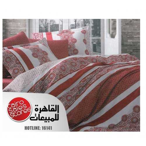 ALFATTAL Quilt Stiches Embroidered Filled of Fiber Size 240 cm*250 Set 3 Pieces F-4085